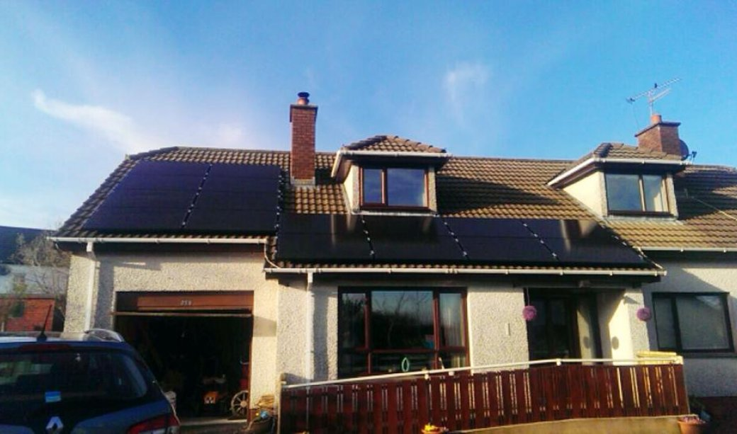 Image of 4Kw Installation in Ahoghill with PV Harvester and SEMS