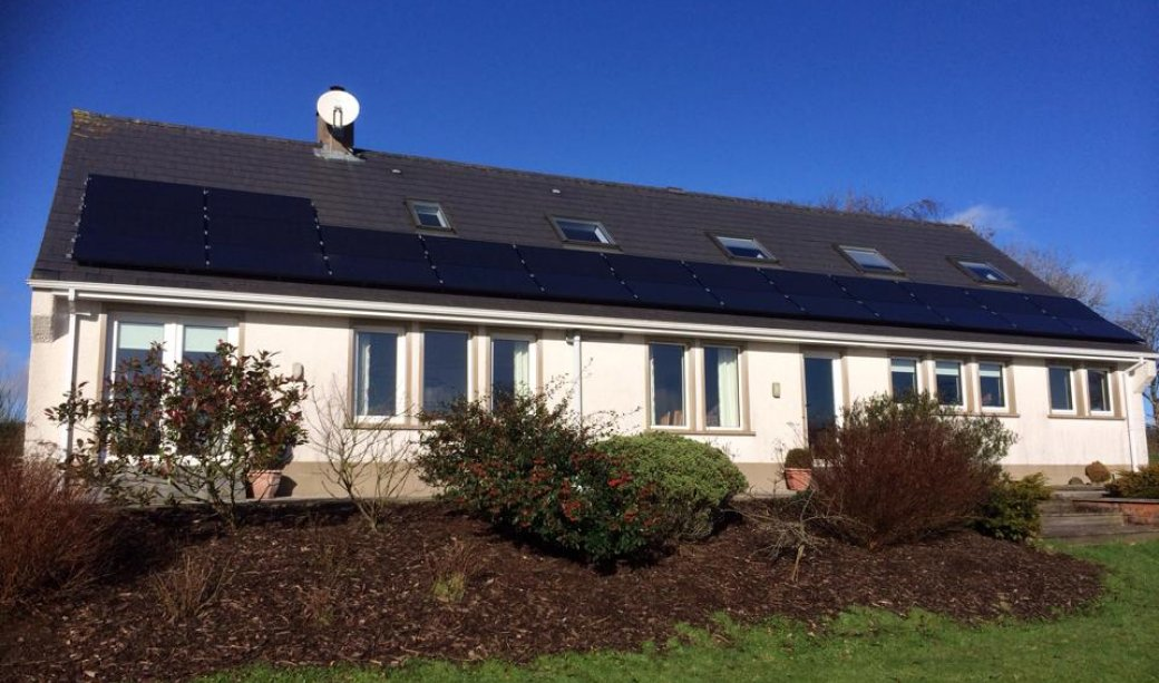 Image of A 6.5Kw system in Ballynure using the black Antaris panel.