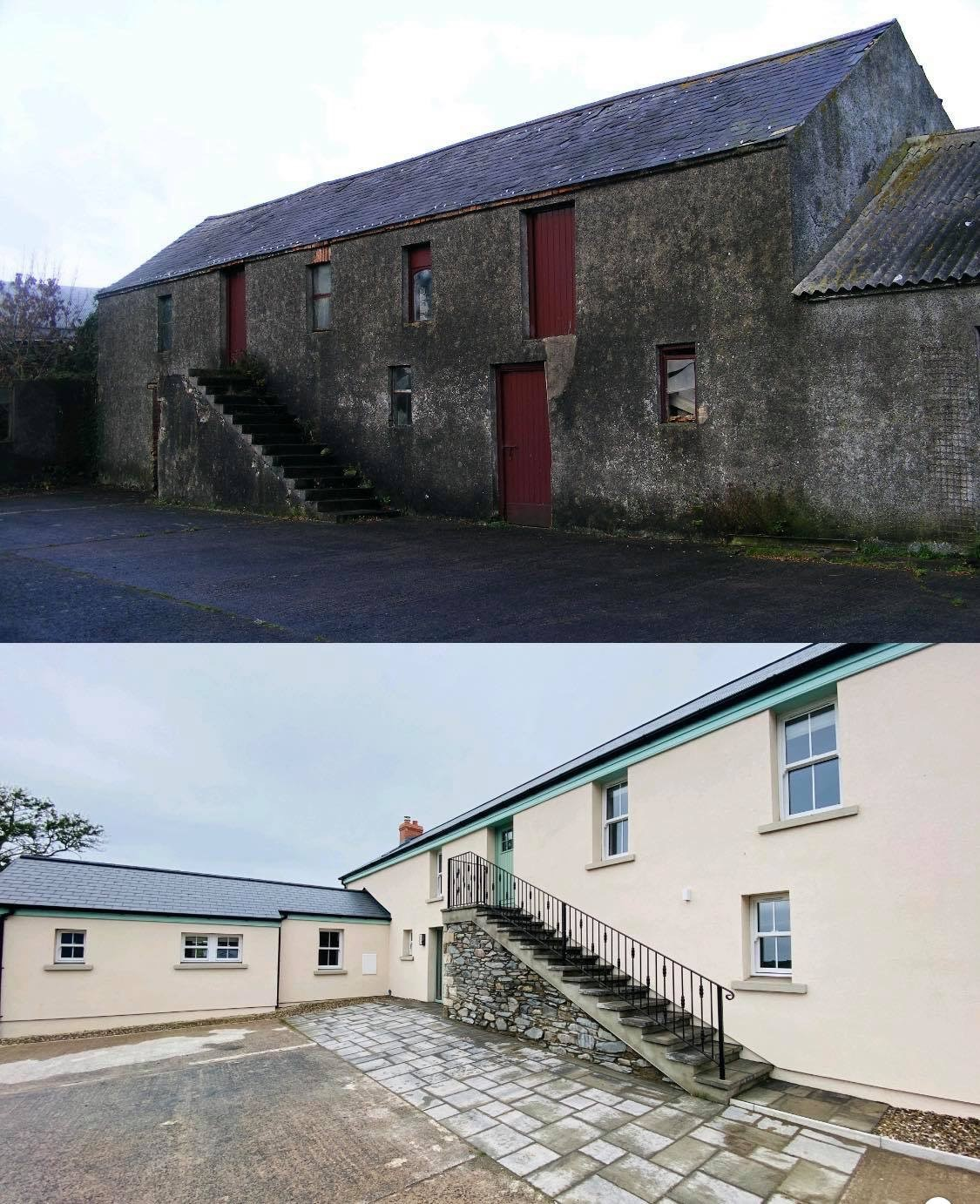 Image of Barn Conversion: Before and After External Wall Insulation