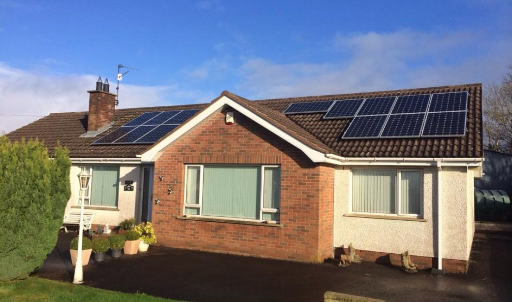 Image of 4KW system with PV Harvester in Upper Ballinderry