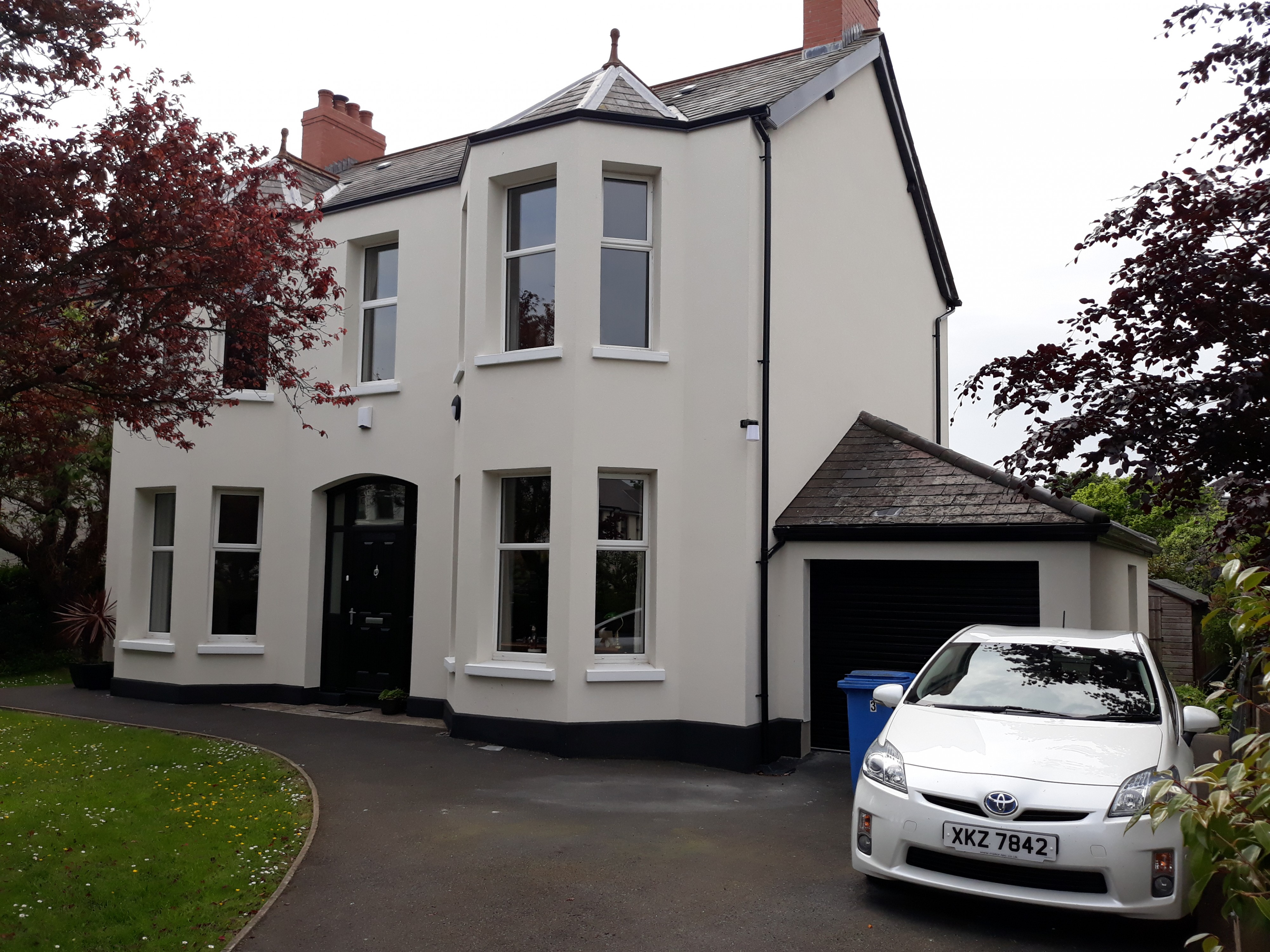 Image of External Wall Insulation. Over a hundred years old this Bangor home looks as good as new!
