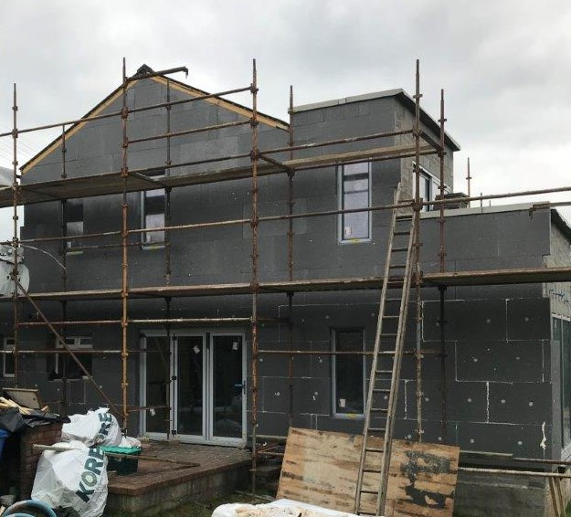 Image of External Wall Insulation: well under way