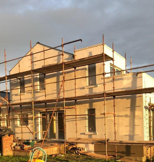 Image of External Wall Insulation: almost complete