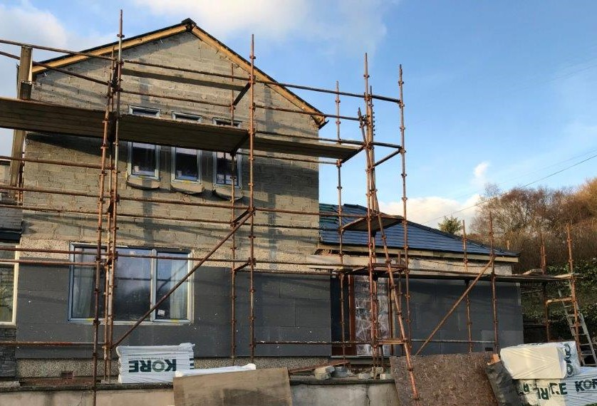 Image of External Wall Insulation: starting