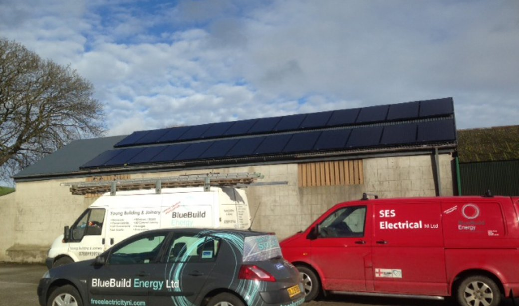 Image of Packing up the vans after another 6.5Kw BlueBuild Energy PV Solar Installation
