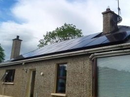 This 4kw PV Solar System in Londonderry provides plenty of Hot Water...